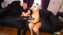 SEXTAPE GERMANY – Chubby German blonde slut sucks cock for first time porn