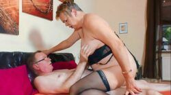 XXX OMAS – Sultry grandma gives intense blowjob in wild fuck