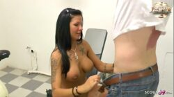 Mega Titten Teen Deutsch Jordan Night fickt im Fitness Studio mit Jungspund – German Big Tits