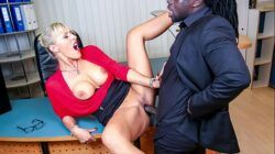 BUMS BUERO – Kinky German blonde MILF Lana Vegas fucks BBC in raunchy office affair