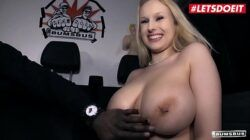 LETSDOEIT – Busty German Blondie Angel Wicky Gives Titjob And Takes BBC On The Bus