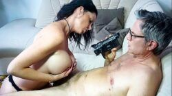 SEXTAPE GERMANY – German mature newbie with silicone tits gets banged in hot sex tape