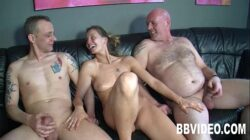 Tattooed german whore gets double fucked