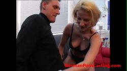 Blonde German MILF Gets Fucked During Casting For Roleplay – GermanPornCasting.com