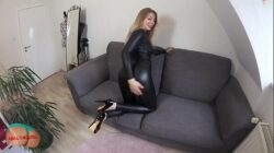 German mom takes dick in the ass pov